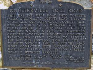 Coulterville Toll Rd sign